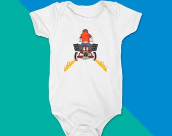 Outta Milk - Back To The Future Inspired Printed Baby Onesie Bodysuit
