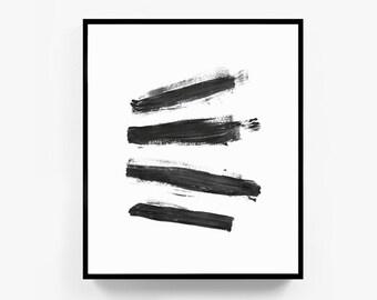 Framed Modern Art, Framed Abstract Art, Framed Artwork, Black and White Abstract, 11x14 Art Print, Black and White Framed Art, 16x20