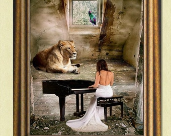 A PRIVATE CONCERT - Surreal art - Wall art print – Poster –