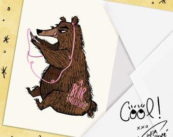 A bear necessity Blank Greeting Card