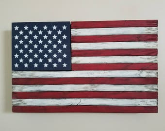 Rustic American Flag Weapon Concealment Case