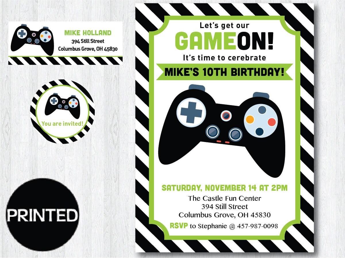 Enchanting Game Party Invitations Motif Invitation Card