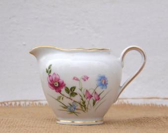 Vintage Bavaria Porcelain Creamer - Vintage Pitcher - Kitchenware