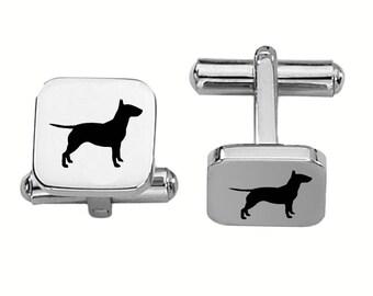 Bull Terrier Cufflinks | Dog Cufflinks | Custom Cufflinks | Stainless Steel