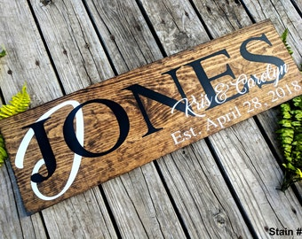 Last Name Sign. Established Sign. Family Name Sign. Custom Name Sign. Custom Wood Signs. Anniversary Gift. Personalized Wood Sign.