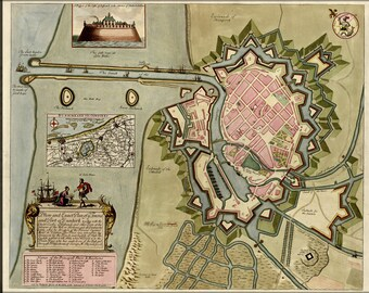Poster, Many Sizes Available; Map Of Dunkirk 1709