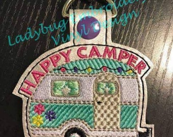 Happy Camper Key fob design
