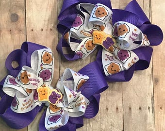 6 inch Best Friend double stacked hairbows
