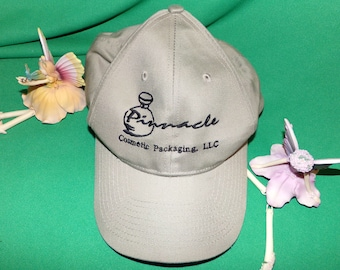 Woman's Hat Pinnacle Cosmetic Packaging Embroidered Baseball Cap Vintage Find!