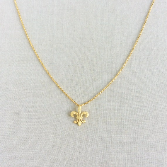 Fleur de lis necklace fleur de lis jewelry fleur de lis aloadofball Images