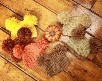 Newborn Teddy Bear Crochet Beanie Photo Prop