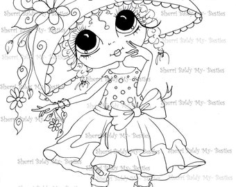 INSTANT DOWNLOAD Digital Digi Stamps Big Eye Big Head Dolls Digi  My - Besties  img224 By Sherri Baldy