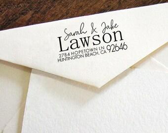 Custom Return Address Stamp, Modern Calligraphy stamp, Self-Inking Personalised Stamp, Address Stamp, Personalized Stamp