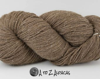 Worsted Weight - Latte - Alpaca Yarn - Made in Canada