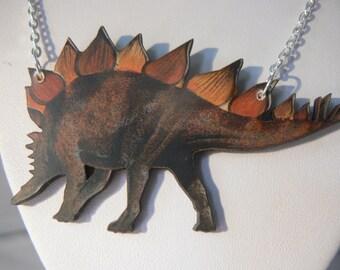 dino dinosaur stegosaurus  t rex jurassic animal woodcut wooden lasercut