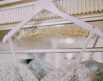 Hanger for bride, Wedding Hanger, Custom Bridal Hanger, Brides Hanger, Name, Bride Hanger, Wedding Dress Hanger, Shower, Bride white hanger.