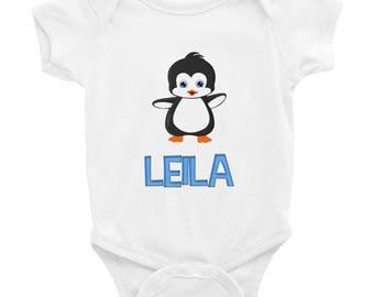 Leila Penguin Infant Bodysuit
