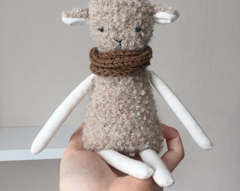 Sheep doll, gift for child, stuffed animal, cute handmade lamb toy