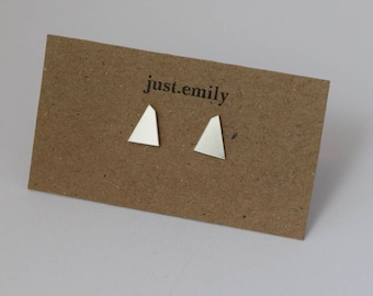 Geometric Studs | Silver Studs | Triangle Earrings | Simple Studs