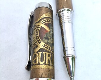 Handcrafted Pen ** Cigar Pen - GURKHA Cigar * Gift for Cigar Lover * Gift for Dad * Gifts for Husband * Gifts for boyfriend * Gifts for Him