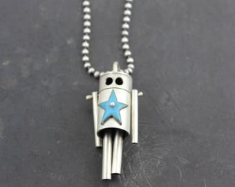 Star Robot Pendant