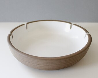 Large Heath Ceramics Ashtray Brown White California Pottery Mid Century