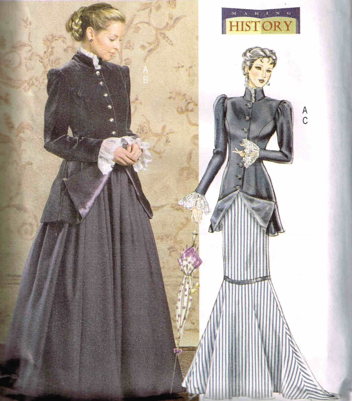 Steampunk Jacket Mermaid Skirt Butterick 4954 Sewing Pattern