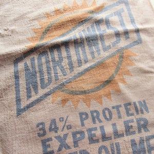 vintage northwest linseed oil meal sack