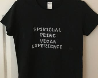 Spiritual Being, Vegan Experience tee, t-shirt