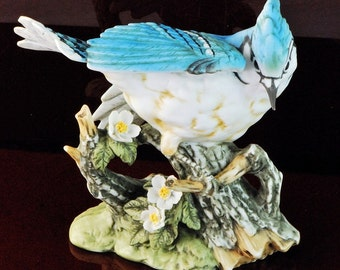 Masterpiece Porcelain HOMCO Blue Jay Bird Figure