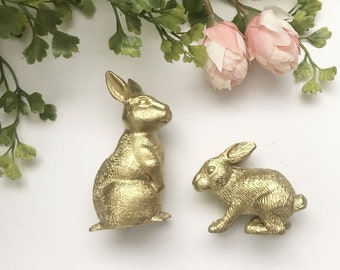 Darling golden Easter bunnies