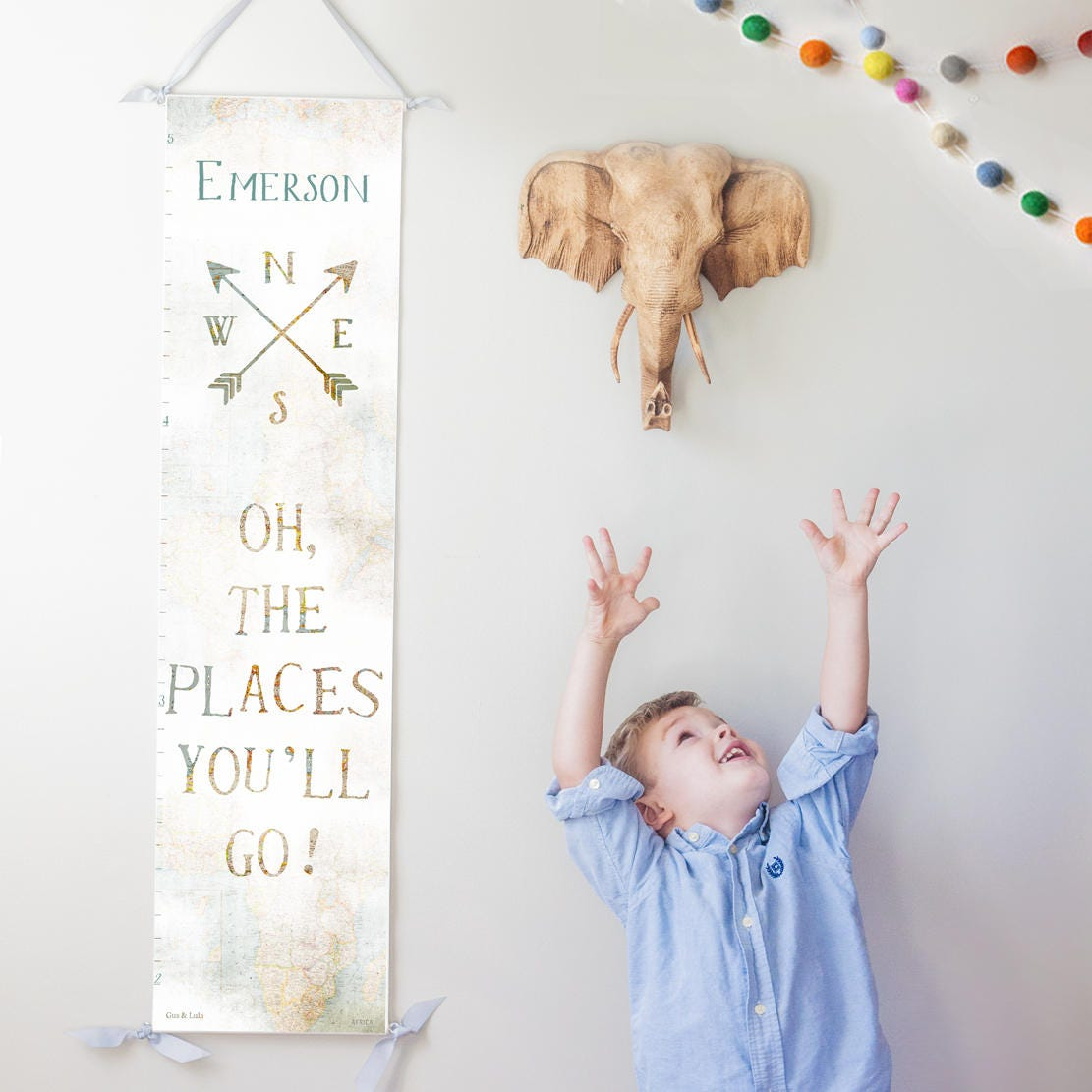 Custom personalized oh the places youll go canvas growth zoom nvjuhfo Gallery