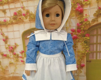 For 18 inch dolls-  1700s Colonial Everyday Dress  - Shown on my American Girl Doll