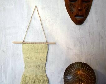 Weaving No.3 hand woven wall hanging