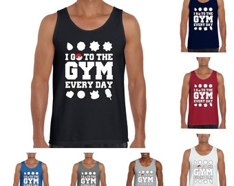 Pokemon Go. I go to the gym everyday Men's Fashion Tank Top