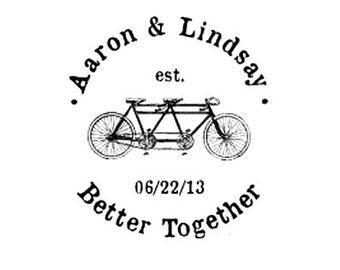 Besser zusammen Weddng retten das Datum Zusammenarbeit individuelle Fahrrad Stempel Fahrrad Est Datum