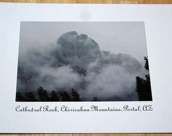 Cathedral Rock, Chiricahua Mountains, Cave Creek Canyon, Portal, Arizona--Photograph--1995 --Shipping Included