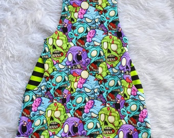 Zombie Romper Baby Overalls Toddler Halloween Zombies Outfit Unisex Baby Clothes Boys Romper Green Blue Purple Black Stripes Trendy Hipster
