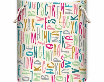 Alphabet ABC Unisex Baby Laundry or Toy Bag