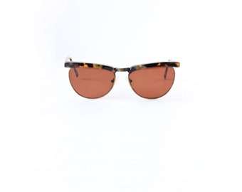 Vintage 1990s Tortoise Shell and Wire Frame Sunglasses