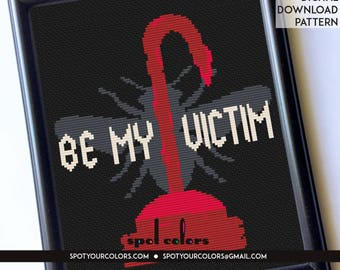 Candyman Be My Victim 8 x 10 Film Movie Counted Cross Stitch Pattern Download Intermediate