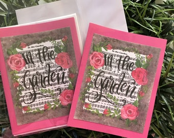 In The Garden Notecards pkg of 4