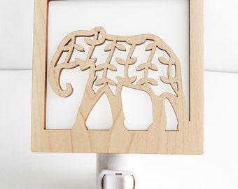 Elephant Nightlight // Safari Jungle Nite Lite // Nursery and Baby Room Lighting // Decorative Plug In Nightlight // Gifts for Kids & Babies