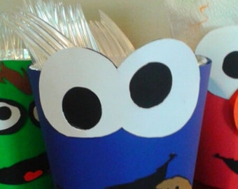 Sesame Street Utensils Holders Elmo Cookie Monster Oscar the Couch