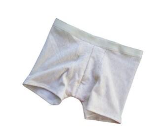 Warm fleece underwear for men, organic bamboo fleece trunks, organic cotton men's briefs, bamboo drawers, handmade underwear for man