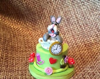 Miniature Alice in Wonderland Cake