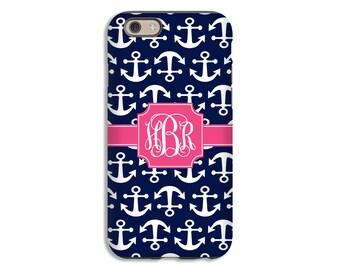 Anchor iPhone 8 case, navy iPhone 8 Plus case, monogram iPhone X case, iPhone 7 case, iPhone 7 Plus case, iPhone 6s Plus case/6s case