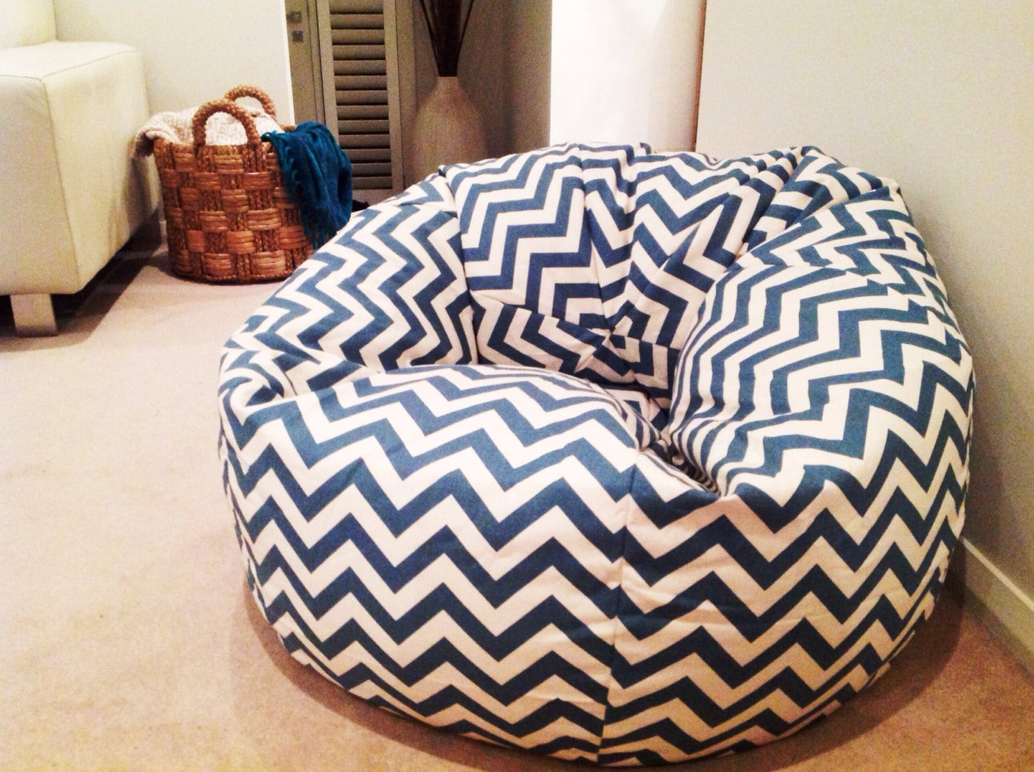 Chevron Bean Bag Cover Adults Kids Zig Zag