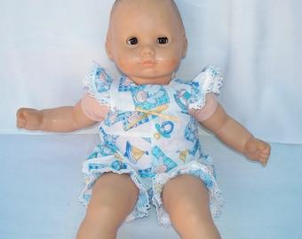 Baby Doll Dress Pajamas, Handmade doll pajamas for little baby doll
