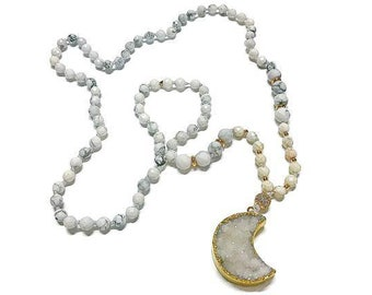 Howlite Moon Dust Necklace